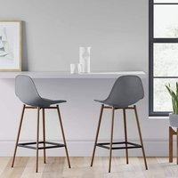 Product photograph showing Copley Grey Plastic Counter Bar Stool In A Pair