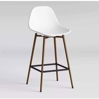 Product photograph showing Copley Plastic Counter Bar Stool In White