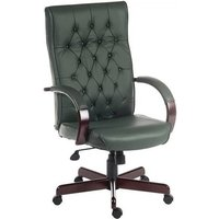 image-Corbin Executive Office Chair In Green Faux Leather