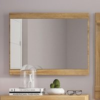 Product photograph showing Corco Wall Bedroom Mirror In Grandson Oak