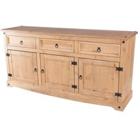 Corina Wooden Large Sideboard In Antique Wax Finish