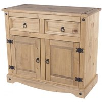 Corina Wooden Small Sideboard In Antique Wax Finish