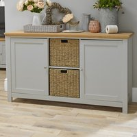 Cornet Wooden Sideboard In Grey And Oak Finish