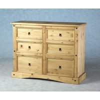 Carona 6 Drawer Chest In Waxed Pine