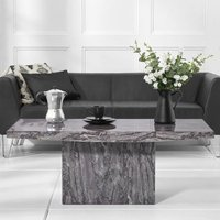 Product photograph showing Coruna Marble Coffee Table In Grey High Gloss