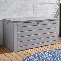 Product photograph showing Cosco 180 Gallon Plastic Garden Storage Cabinet In Grey