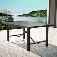 Product photograph showing Cosco Outdoor Paloma Metal Dining Table In Charcoal Grey