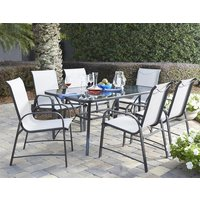 Product photograph showing Cosco Outdoor Paloma Outdoor Dining Set In Dark Grey
