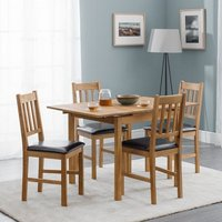 Coxmoor Extending Dining Table In Oiled Oak With Four Chairs