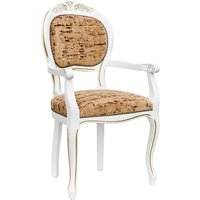 Crested Spoonback Carver Dining Chair With Wooden Frame