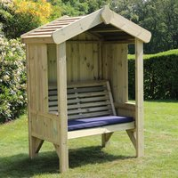 Product photograph showing Cretila Wooden Enclosed 2 Seater Arbour