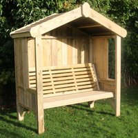 Product photograph showing Cretila Wooden Enclosed 3 Seater Arbour
