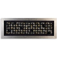 Cubes Picture Wall Art In Silver Wooden Frame