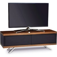 Cubic TV Stand In Black Gloss With Walnut Top And Bottom Panel