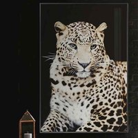 Product photograph showing Cursa Cheetah Picture Glass Wall Art