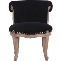 Product photograph showing Cuzco Velvet Accent Chair In Black And Sunbleach
