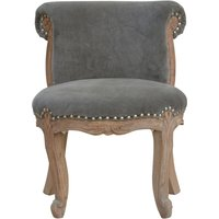 Product photograph showing Cuzco Velvet Accent Chair In Grey And Sunbleach