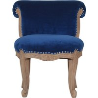 Product photograph showing Cuzco Velvet Accent Chair In Royal Blue And Sunbleach