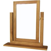 Cyprian Dressing Table Mirror In Chunky Pine Frame