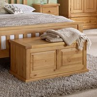 Cyprian Wooden Blanket Box In Chunky Pine
