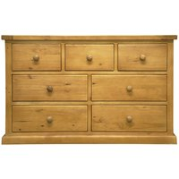 Cyprian Wooden Chest Of Drawers In Chunky Pine With 7 Drawers