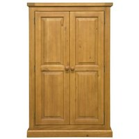 Cyprian Wooden Kids Room Wardrobe In Chunky Pine With 2 Doors