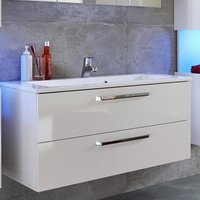 Dale Wall Mounted Vanity Cabinet White High Gloss With Washbasin