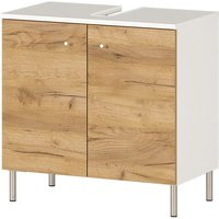 Dallas Basin Vanity Unit In White And Navarra Oak