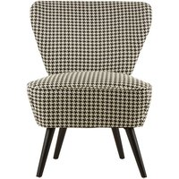 image-Damiano Wingback Fabric Bedroom Chair With Black Legs