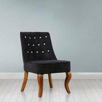 image-Darcey Febric Bedroom Chair In Black