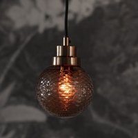 Product photograph showing Detling Wall Hung Glass Pendant Light In Brass