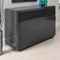 Product photograph showing Devito Wooden Dressing Table In Grey Gloss Grain Effect