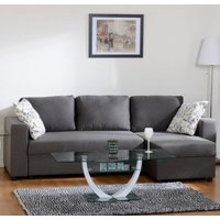 Dexter Corner Sofa Bed In Dark Grey Fabric With Storage