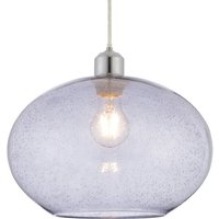 Product photograph showing Dimitri Wall Hung Grey Glass Pendant Light