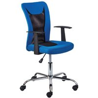 Product photograph showing Donny Polyther Office Chair In Blue With Arms