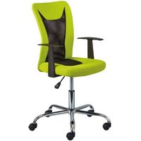 Product photograph showing Donny Polyther Office Chair In Green With Arms