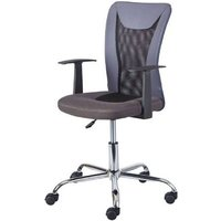 Product photograph showing Donny Polyther Office Chair In Grey With Arms