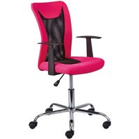 Product photograph showing Donny Polyther Office Chair In Pink With Arms