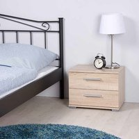 Byron Bedside Cabinet In Sonoma Oak With 2 Drawers