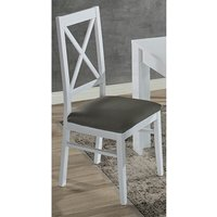 Product photograph showing Drent Wooden Dining Chair In White