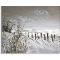 Product photograph showing Dune Canvas Oil Painting On Wooden Frame