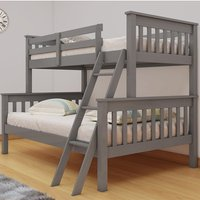 Product photograph showing Dux Wooden Single And Double Bunk Bed In Grey