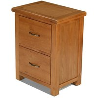 Product photograph showing Earls Wooden Office Filing Cabinet In Chunky Solid Oak