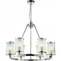 Easton Wall Hung 6 Pendant Light In Chrome