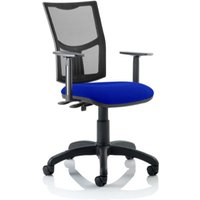Product photograph showing Eclipse Ii Mesh Back Office Chair In Blue And Adjustable Arms