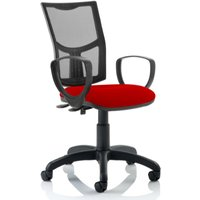 Product photograph showing Eclipse Ii Mesh Back Office Chair In Cherry With Loop Arms