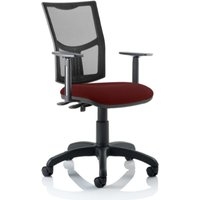 Product photograph showing Eclipse Ii Mesh Back Office Chair In Chilli And Adjustable Arms