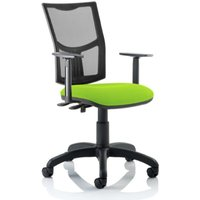 Product photograph showing Eclipse Ii Mesh Back Office Chair In Green And Adjustable Arms