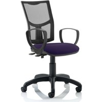 Product photograph showing Eclipse Ii Mesh Back Office Chair In Purple With Loop Arms