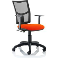 Product photograph showing Eclipse Ii Mesh Back Office Chair In Red And Adjustable Arms